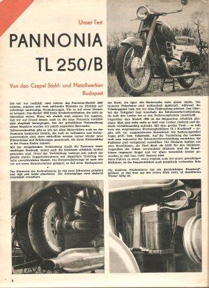Unser Test- Pannonia TL 250/B