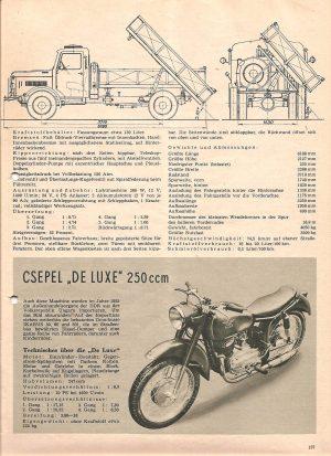 DSV über Csepel de Luxe 250 ccm