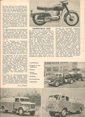 Leipziger Messe- Pannonia 1959 Bericht