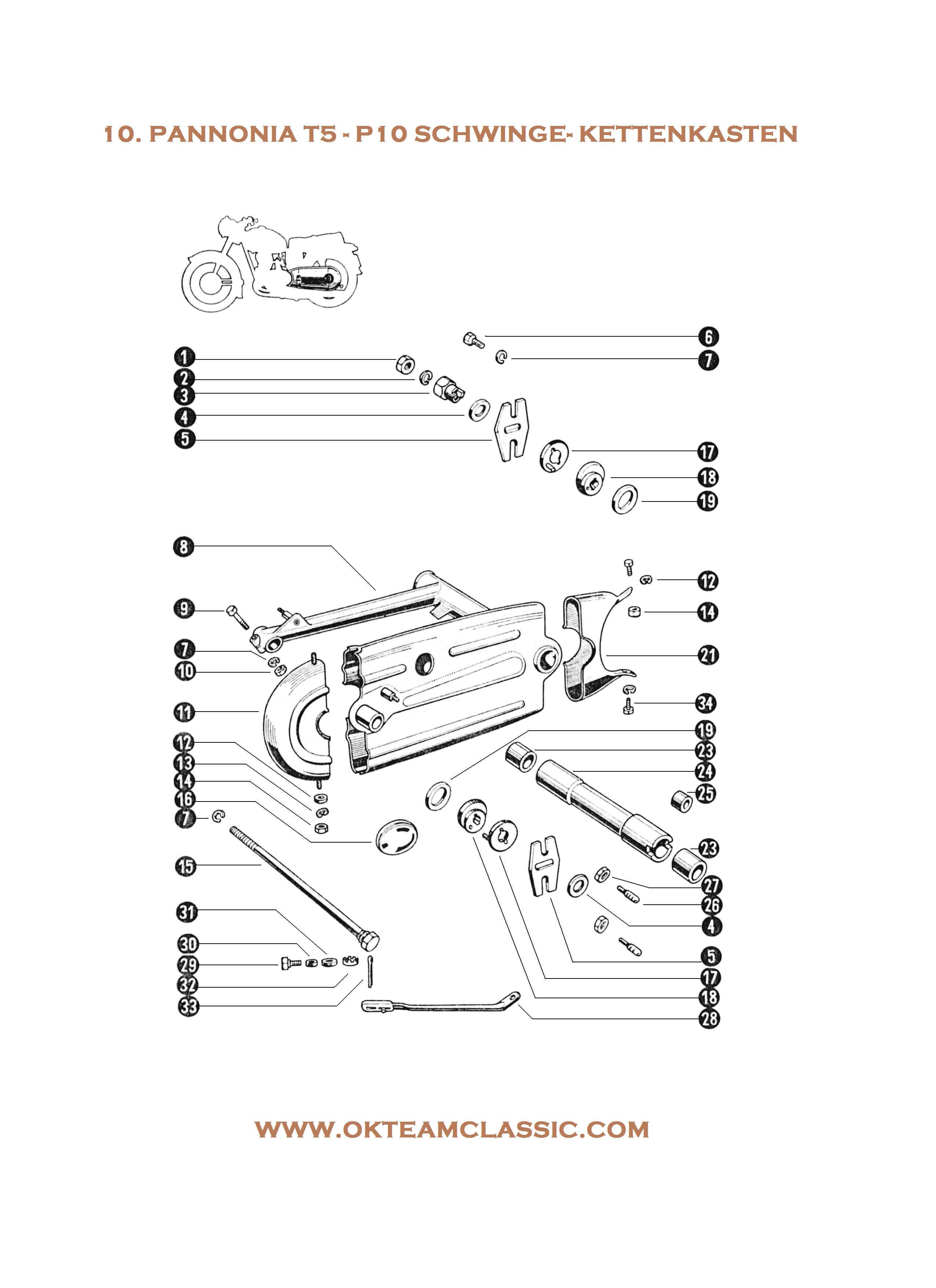 10. Schwinge – Kettenkasten