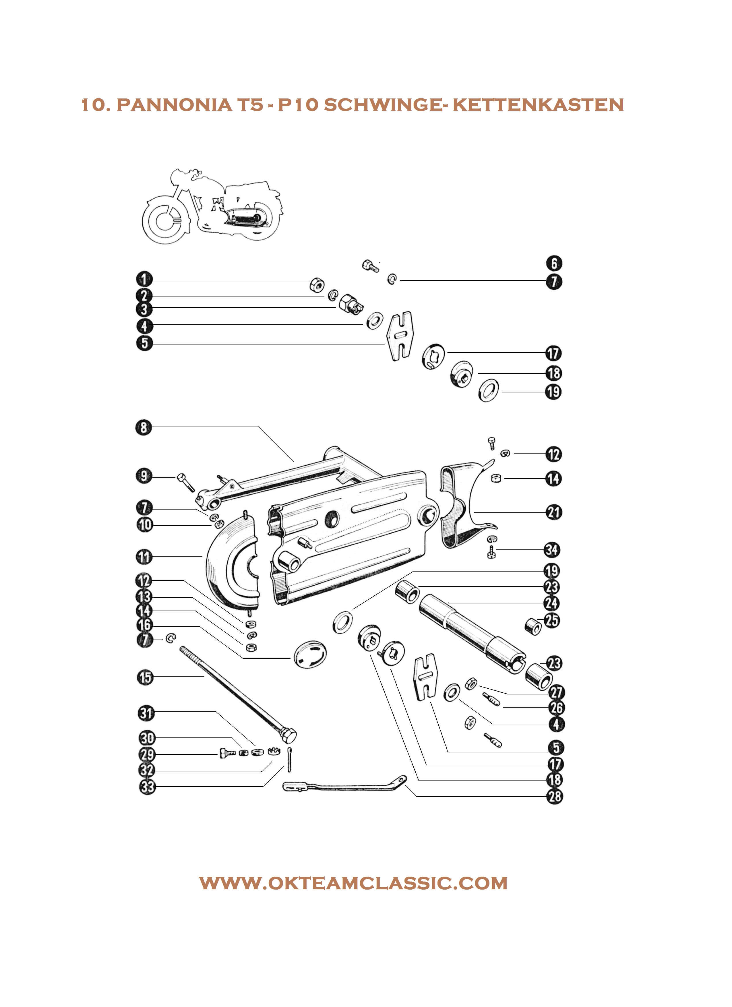 10. Schwingarm – Chain box
